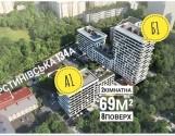 Продаж 1 кімнатна в новобудові вул.Замарстинівська 134а