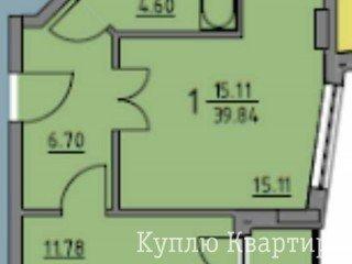 1-кім новобудова в Збудованому будинку на вул. Вулецька