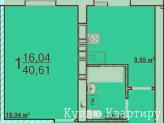 """Продам 1-к квартиру в ЖК """"Архітекторів"""""""