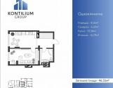 Продається квартира площею 46,55 м.кв.по вул Кисілевської