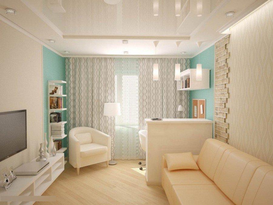 Дизайн интерьер в однокомнатной квартире